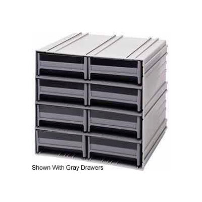 "Quantum Interlocking Storage Cabinet QIC-83 - 11-3/4""Wx11-3/8""Dx11""H - 8 Red Drawers"