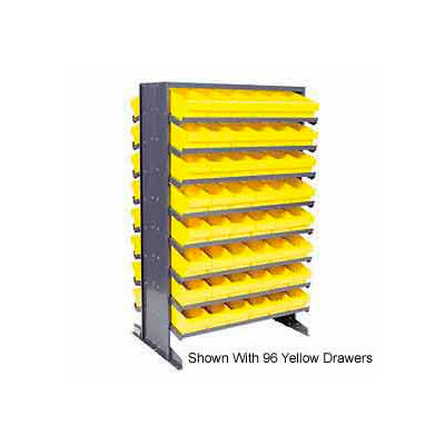 """Quantum QPRD-567 Double Sided Rack 24""""x36""""x60"""" with 88 Red Euro Drawers"""
