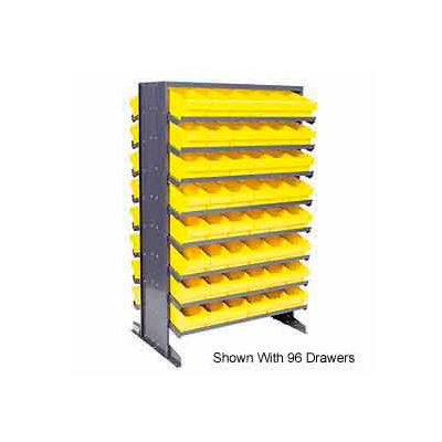 "Quantum QPRD-701 Double Sided Rack 24""x36""x60"" with 64 Yellow Euro Drawers"