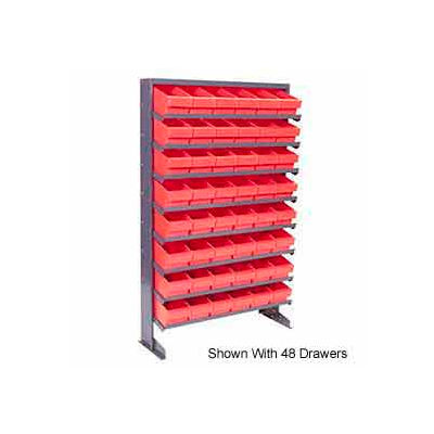 """Quantum QPRS-701 Single Sided Rack 12""""x36""""x60"""" with 32 Red Euro Drawers"""