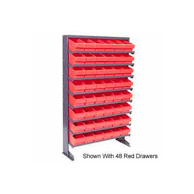 """Quantum QPRS-801 Single Sided Rack 12""""x36""""x60"""" with 24 Yellow Euro Drawers"""