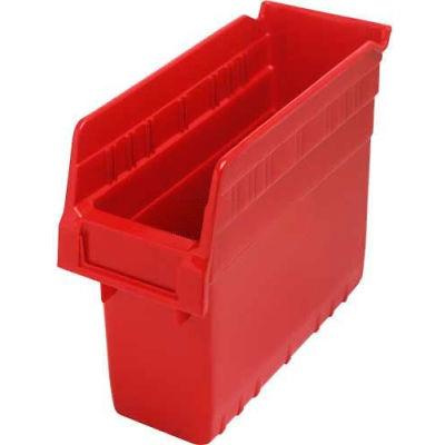 "Plastic Nesting Storage Shelf Bin QSB801 4-3/8""W x 11-5/8""D x 8""H Red - Pkg Qty 36"