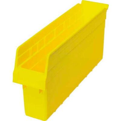 "Plastic Nesting Storage Shelf Bin QSB803 4-3/8""W x 17-7/8""D x 8""H Yellow - Pkg Qty 20"