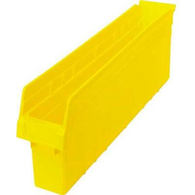 "Plastic Nesting Storage Shelf Bin QSB805 4-3/8""W x 23-5/8""D x 8""H Yellow - Pkg Qty 16"