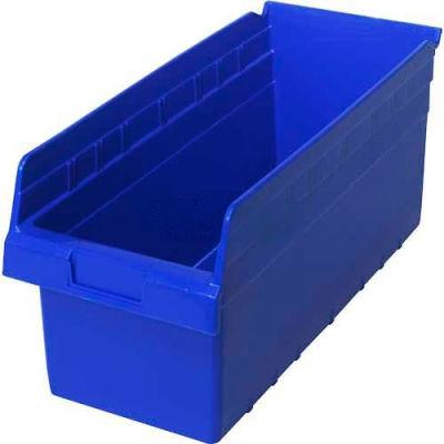 "Plastic Nesting Storage Shelf Bin QSB808 8-3/8""W x 17-7/8""D x 8""H Blue - Pkg Qty 10"