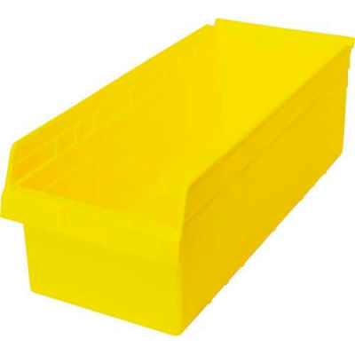 "Plastic Nesting Storage Shelf Bin QSB816 11-1/8""W x 23-5/8""D x 8""H Yellow - Pkg Qty 6"