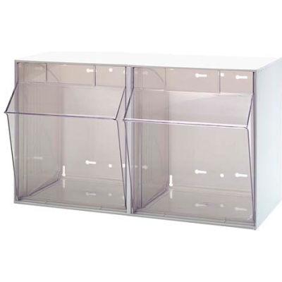 Quantum Tip Out Storage Bin QTB302 - 2 Compartments White