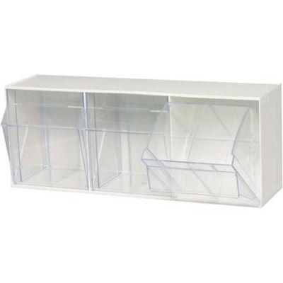 Quantum Tip Out Storage Bin QTB303 - 3 Compartments White