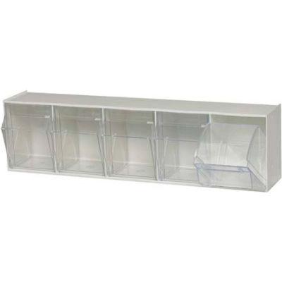 Quantum Tip Out Storage Bin QTB305 - 5 Compartments White