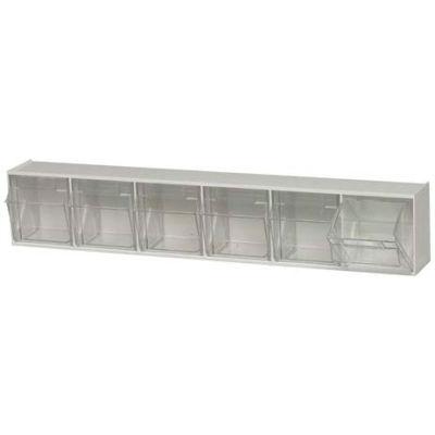 Quantum Tip Out Storage Bin QTB306 - 6 Compartments White