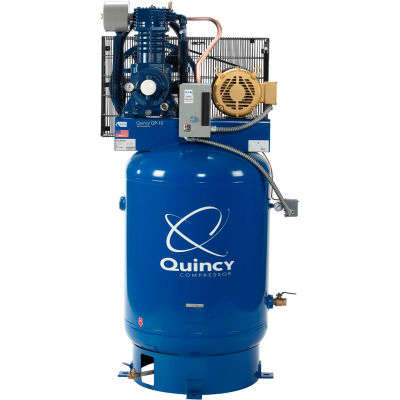 Quincy QP™ Pro Two-Stage Air Compressor, 10 HP, 120 Gallon, Vertical, 200V-3-Phase
