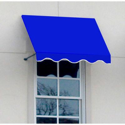 "Awntech CR43-8BB, Window/Entry Awning 8' 4-1/2""W x 3'D x 4' 8""H Bright Blue"