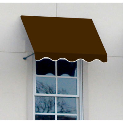 Awntech CR44-3BRN, Window/Entry Awning 3-3/8'W x 4-11/16'H x 4'D Brown