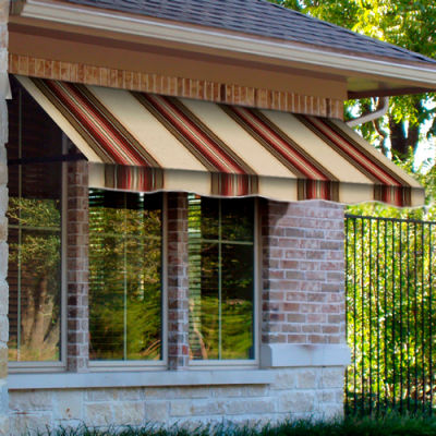 Awntech RR22-3BRTER, Window/Entry Awning 3-3/8'W x 2-9/16'H x 2'D Brown/Terra Cotta