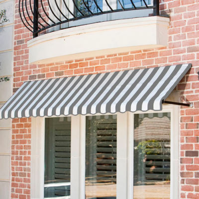"Awntech CR34-4GW, Window/Entry Awning 4' 4-1/2""W x 4'D x 3' 8""H Gray/White"