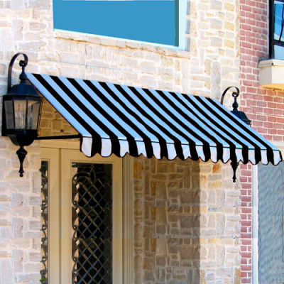 Awntech CR32-3KW, Window/Entry Awning 3-3/8'W x 3-11/16'H x 2'D Black/White