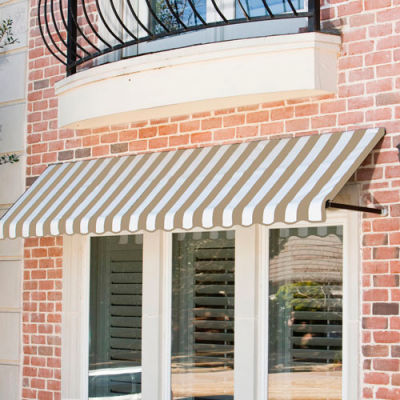 Awntech RR12-10LW, Window/Entry Awning 10-3/8'W x 1-5/16'H x 2'D Linen/White