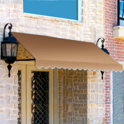 "Awntech CR33-6T, Window/Entry Awning 6' 4-1/2""W x 3'D x 3' 8""H Olive"