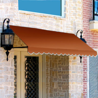 "Awntech CR44-4TER, Window/Entry Awning 4' 4-1/2""W x 4'D x 4' 8""H Terra Cotta"