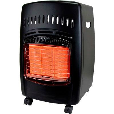 18000 BTU Radiant Cabinet Propane Heater, .83 To .28 Lb/ Hr Fuel Cons.