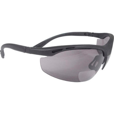Radians® CH1-220 Cheaters™ Bi-Focal Safety Glasses, Smoke  2.0 Lens, Black Frame - Pkg Qty 12