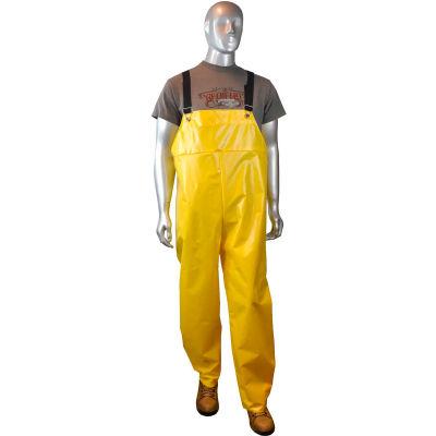 Radians® AquaRad™ RB33-NSYY-L, 0.25mm TPU/200D Nylon Rain Bibs, Yellow, L