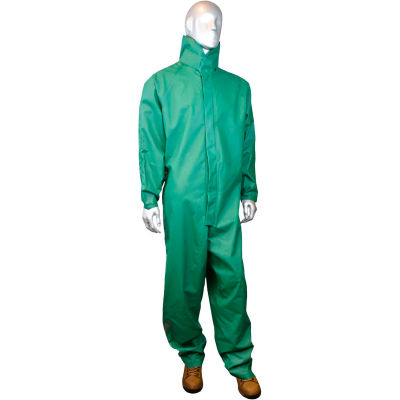 Radians® Durarad™ 42 Acid Gear Rainsuit, M, 0.42mm PVC/Poly, Green, RS20-NZKV-M