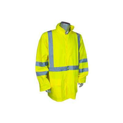 Radians RW10-3S1Y Lightweight Rain Jacket, Hi-Viz Lime, 2XL