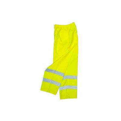 Radians RW10-ES1Y Lightweight Rain Pants, Hi-Viz Lime, 2XL