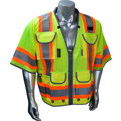 Radians® Type R Class 3 Heavy Duty Engineer Vest, Green, XL, SV55-3ZGD-XL