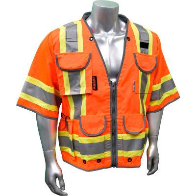 Radians® Type R Class 3 Heavy Duty Engineer Vest, Orange, M, SV55-3ZOD-M