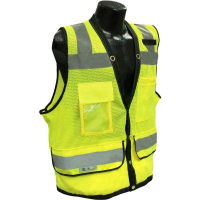 Radians® Type R Class 2 Heavy Duty Surveyor Safety Vest, Snap, 4XL, Green, SV59-2ZGD-4X