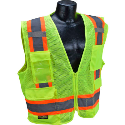 Radians® Type R Class 2 Two-Tone Surveyor Safety Vest, 4XL, Green, SV6G4X