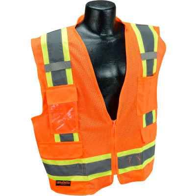 Radians® Type R Class 2 Two-Tone Surveyor Safety Vest, 4XL, Orange, SV6O4X