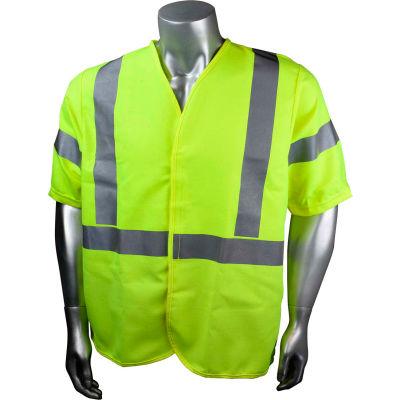Radians® Hi-Vis Flame Resistant Solid Safety Vest, Type R Class 3, 3XL, Green, SV92E-3VGSFR-3X