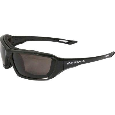 Radians® XT1-21 Extremis™ Foam Lined Frame Safety Glasses, Smoke A/F Lens, Black Frame