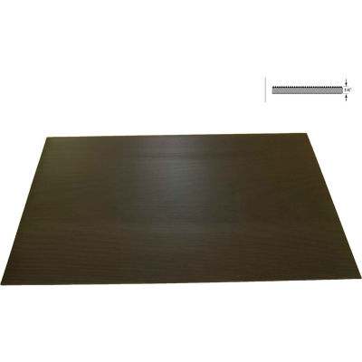 "Rhino Mat Corrugated Switchboard Mat 1/4"" Thick 2' x Up to 75' Black"