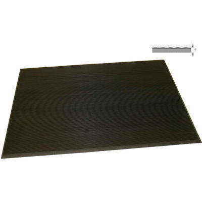 "Rhino Mat Corrugated Switchboard Mat 3/8"" Thick 3' x Up to 75' Black"