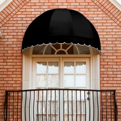 "Awntech RB4-K, Window/Entry Awning 4' 4-1/2""W x 2' 2-1/4""D x 2' 9-1/4""H Black"