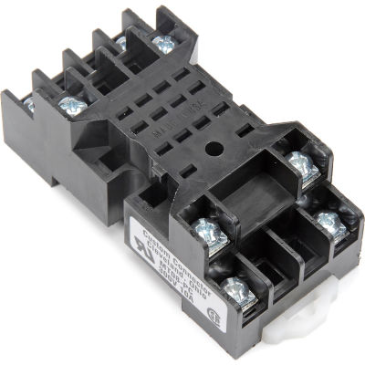 Relay and Control MT08-PC Relay Socket, 300V @ 10 Amps, Din Rail Mountable