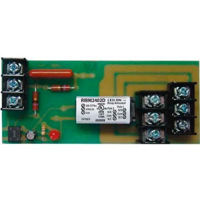 "RIB® Track Mount Relay RIBM2402D, 4"", 10A, DPDT, 24VAC/DC/208-277VAC"