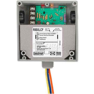 RIB® Enclosed Internal AC Sensor W/Relay RIBXLCF, Fixed, 10A, SPDT, 10-30VAC/DC
