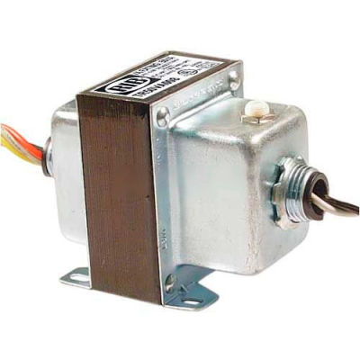 RIB® Transformer TR50VA008, 50VA, 208/240/277/480-120VAC, Dual Hub, Foot Mount, Circuit Breaker