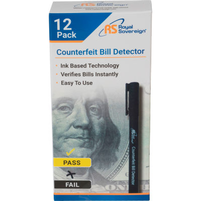 Royal Sovereign® RCD-1812-RS Counterfeit Pens - Package Quantity of 12