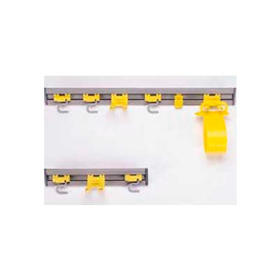 """Rubbermaid® Commercial Tool Storage, Gray, 18"""", 2 S-hooks/1 Double Hook - 199200GY"""