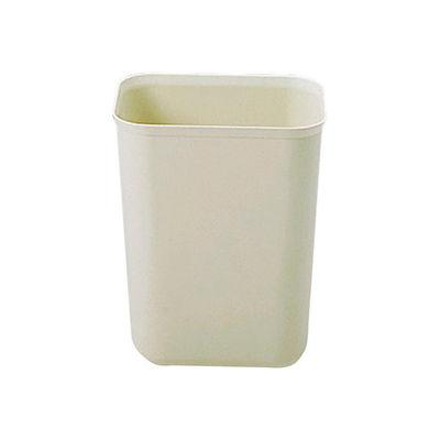Rubbermaid® 7 Qt. Fire-Resistant Rectangular Fiberglass Wastebasket, Beige - FG254000BEIG