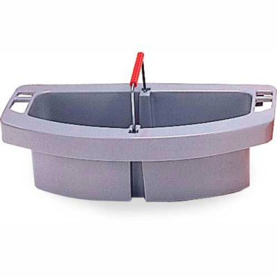 """Rubbermaid® 2-Compartment Maid Carry Caddy 16"""" x 9"""" x 5"""", Gray - RCP2649GRA - Pkg Qty 4"""