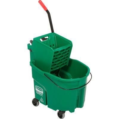 Rubbermaid WaveBrake® 2.0 Side Press Mop Bucket & Wringer Combo 26-35 Qt. - Green