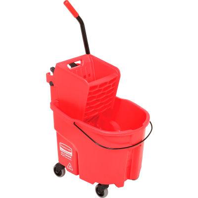 Rubbermaid WaveBrake® 2.0 Side Press Mop Bucket & Wringer Combo 26-35 Qt. - Red