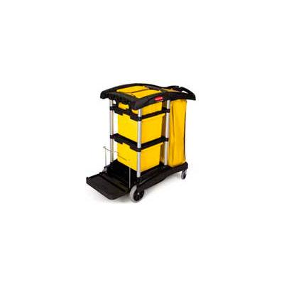 Rubbermaid® Microfiber Janitor Cart, Black 9T73